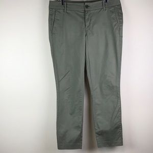 J. Crew Olive Frankie Ankle pant Size 10